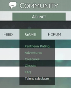 Skyforge Aelinet Talent Calculator