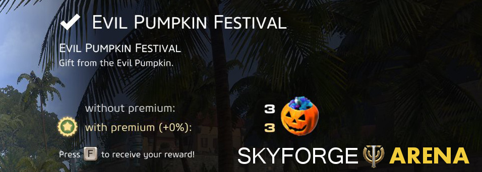 Skyforge Halloween Pumpkin Festival Reward
