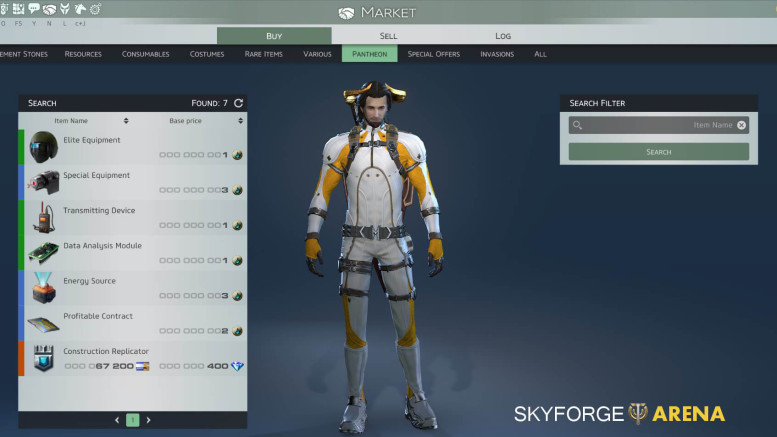 Skyforge Modifiers in Market
