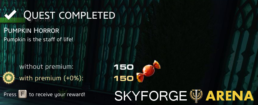 Skyforge Pumpkin Horror Reward